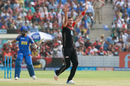 Tim Southee belts out an appeal off Ajinkya Rahane, Rajasthan Royals v Royal Challengers Bangalore, IPL, Jaipur, May 19, 2018