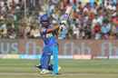 Ajinkya Rahane is off balance as he fails to connect a scoop shot, Rajasthan Royals v Royal Challengers Bangalore, IPL, Jaipur, May 19, 2018