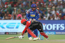 Parthiv Patel loses his balance to be stumped by Heinrich Klaasen, Rajasthan Royals v Royal Challengers Bangalore, IPL, Jaipur, May 19, 2018