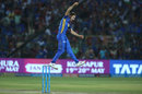 Ben Laughlin celebrates a wicket, Rajasthan Royals v Royal Challengers Bangalore, IPL, Jaipur, May 19, 2018
