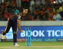 Nitish Rana sends one down, Sunrisers Hyderabad v Kolkata Knight Riders, IPL, Hyderabad, May 19, 2018
