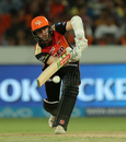 Kane Williamson steers one forward, Sunrisers Hyderabad v Kolkata Knight Riders, IPL 2018, Hyderabad, May 19, 2018