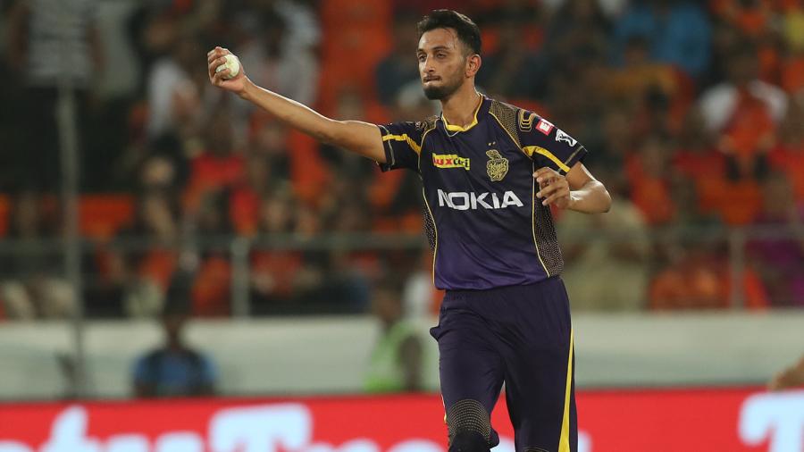 Prasidh Krishna fields off his own bowling