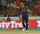 Prasidh Krishna fields off his own bowling, Sunrisers Hyderabad v Kolkata Knight Riders, IPL 2018, Hyderabad, May 19, 2018