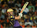 Chris Lynn times a pull perfectly, Sunrisers Hyderabad v Kolkata Knight Riders, IPL 2018, Hyderabad, May 19, 2018