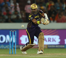 Robin Uthappa under-edges a pull, Sunrisers Hyderabad v Kolkata Knight Riders, IPL 2018, Hyderabad, May 19, 2018