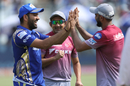 Rohit Sharma, Gautam Gambhir and Mohammed Shami before the game, Delhi Daredevils v Mumbai Indians, IPL 2018, Delhi, May 20, 2018