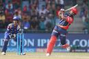 An off-balance hoick from Rishabh Pant, Delhi Daredevils v Mumbai Indians, IPL 2018, Delhi, May 20, 2018
