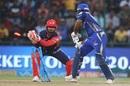 Rishabh Pant completes a stumping of Evin Lewis, Delhi Daredevils v Mumbai Indians, IPL 2018, Delhi, May 20, 2018