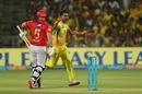 Deepak Chahar celebrates Aaron Finch's wicket, Chennai Super Kings v Kings XI Punjab, IPL 2018, Pune, May 20, 2018