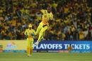 Lungi Ngidi leaps after dismissing KL Rahul, Chennai Super Kings v Kings XI Punjab, IPL 2018, Pune, May 20, 2018
