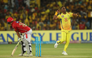 Dwayne Bravo's celebratory jig after dismissing David Miller, Chennai Super Kings v Kings XI Punjab, IPL 2018, Pune, May 20, 2018