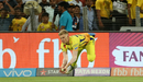 Sam Billings acrobatically takes the catch of Axar Patel, Chennai Super Kings v Kings XI Punjab, IPL 2018, Pune, May 20, 2018