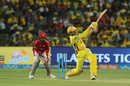 New No.5: Harbhajan Singh slogs one away, Chennai Super Kings v Kings XI Punjab, IPL 2018, Pune, May 20, 2018