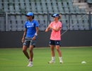 Supernovas captain Harmanpreet Kaur trains with team-mate Danielle Wyatt, Supernovas v Trailblazers, Mumbai, May 21, 2018