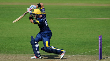 Colin Ingram gets well forward to drive