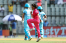 Poonam Yadav is pumped up after claiming a wicket, Supernovas v Trailblazers, Women's T20 Challenge, Mumbai, May 22, 2018