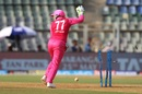 Alyssa Healy celebrates Mona Meshram's run out, Supernovas v Trailblazers, Women's T20 Challenge, Mumbai, May 22, 2018