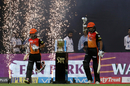 Shikhar Dhawan and Shreevats Goswami walk out amid fireworks, Sunrisers Hyderabad v Chennai Super Kings, IPL 2018, Mumbai, May 22, 2018