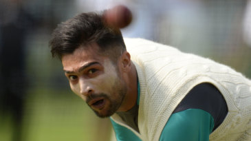 Mohammad Amir trains at Lord's