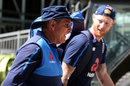 Ben Stokes chats with Trevor Bayliss, Lord's, May 22, 2018