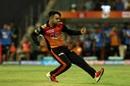 Rashid Khan is pumped up after dismissing MS Dhoni, Sunrisers Hyderabad v Chennai Super Kings, IPL 2018, Mumbai, May 22, 2018