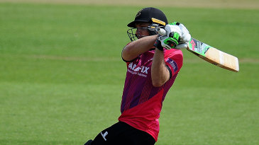 Luke Wright crunches through the leg side