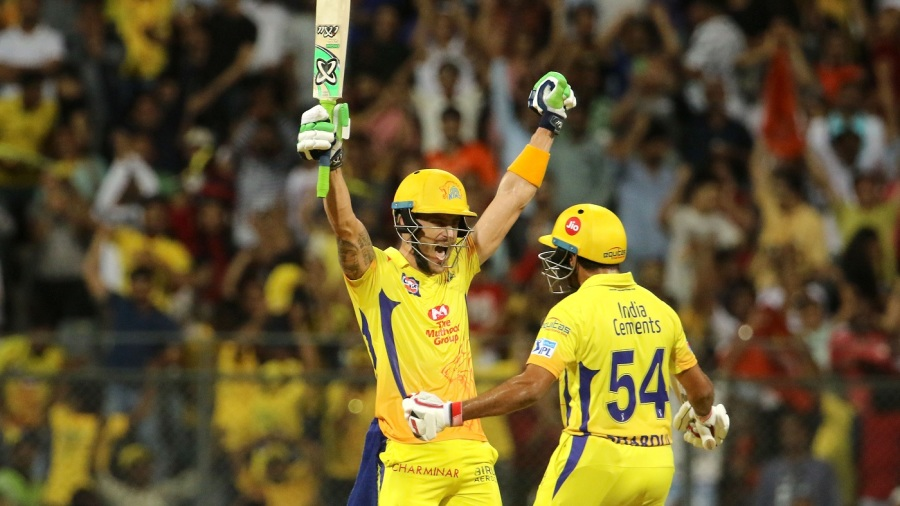 Faf du Plessis' 42-ball 67 guided CSK to a two-wicket win