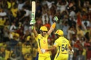 Faf du Plessis' 42-ball 67 guided CSK to a two-wicket win, Sunrisers Hyderabad v Chennai Super Kings, IPL 2018, Mumbai, May 22, 2018