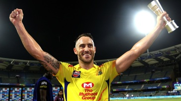 Faf du Plessis was the Man of the Match for his unbeaten half-century