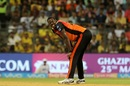 Carlos Brathwaite reacts in the field, Sunrisers Hyderabad v Chennai Super Kings, IPL 2018, Mumbai, May 22, 2018