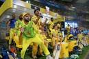 The Chennai Super Kings players celebrate after their win, Hyderabad v Chennai Super Kings, IPL 2018, Mumbai, May 22, 2018