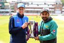 Joe Root and Sarfraz Ahmed with the series trophy, Lord's, May 23, 2018
