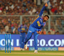 Shreyas Gopal in his follow through, Kolkata Knight Riders v Rajasthan Royals, IPL 2018, Eliminator, Kolkata, May 23, 2018