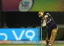 Dinesh Karthik slices one away, Kolkata Knight Riders v Rajasthan Royals, IPL 2018, Eliminator, Kolkata, May 23, 2018