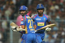 Sanju Samson and Ajinkya Rahane run between the wickets, Kolkata Knight Riders v Rajasthan Royals, IPL 2018, Eliminator, Kolkata, May 23, 2018