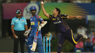 Piyush Chawla extends his arm to take a catch