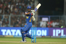 Ajinkya Rahane swivels during a pull, Kolkata Knight Riders v Rajasthan Royals, IPL 2018, Eliminator, Kolkata, May 23, 2018