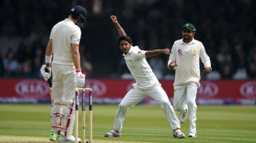 Hasan Ali claimed the big wicket of Joe Root for 4