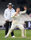 Dom Bess during his first over in Test cricket, England v Pakistan, 1st Test, Lord's, 1st day, May 24, 2018