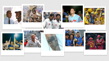 Composite: the last 25 years in cricket polaroid