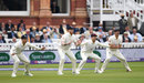 England's cordon waits for a chance, England v Pakistan, 1st Test, Lord's, 2nd day, May 25, 2018