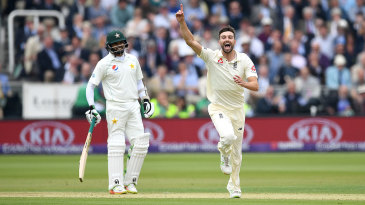 Mark Wood claimed England's first wicket of the second morning