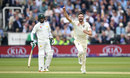 Mark Wood claimed England's first wicket of the second morning, England v Pakistan, 1st Test, Lord's, 2nd day, May 25, 2018