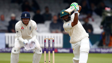 Asad Shafiq unfurls a perfect drive