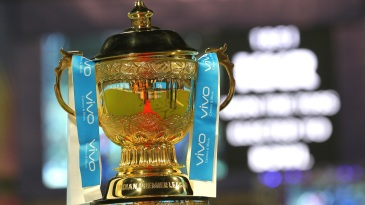 The IPL 2018 trophy on display