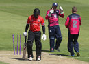Michael Carberry walks off after being bowled, Northamptonshire v Leicestershire, Royal London Cup, North Group, May 25, 2018