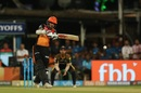 Shikhar Dhawan flays one through the off side, Kolkata Knight Riders v Sunrisers Hyderabad, IPL 2018, Qualifier 2, Kolkata, May 25, 2018