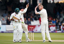 Ben Stokes removed Sarfraz Ahmed with the last ball before tea, England v Pakistan, 1st Test, Lord's, 2nd day, May 25, 2018