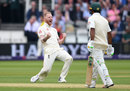 Ben Stokes celebrates the wicket of Asad Shafiq, England v Pakistan, 1st Test, Lord's, 2nd day, May 25, 2018